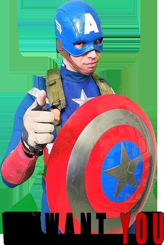 CAPITAN AMERICA WE WANT YOU