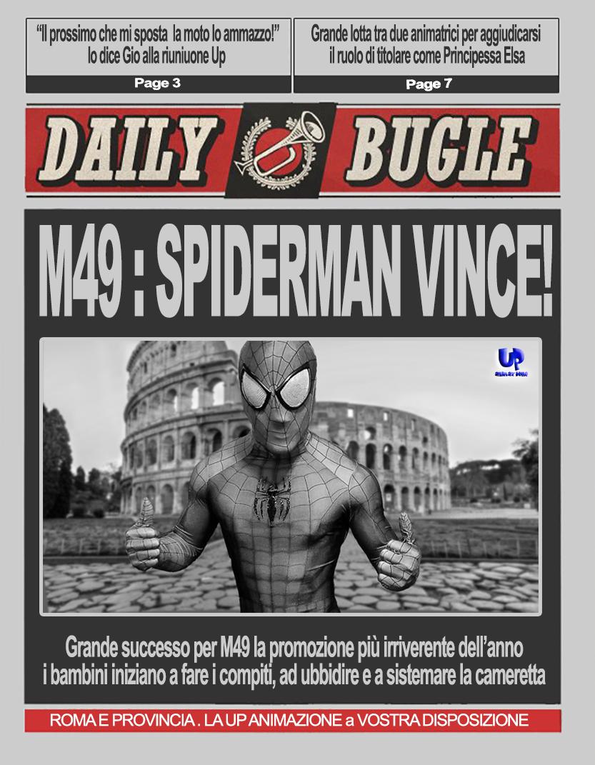giornale spiderman up animazione