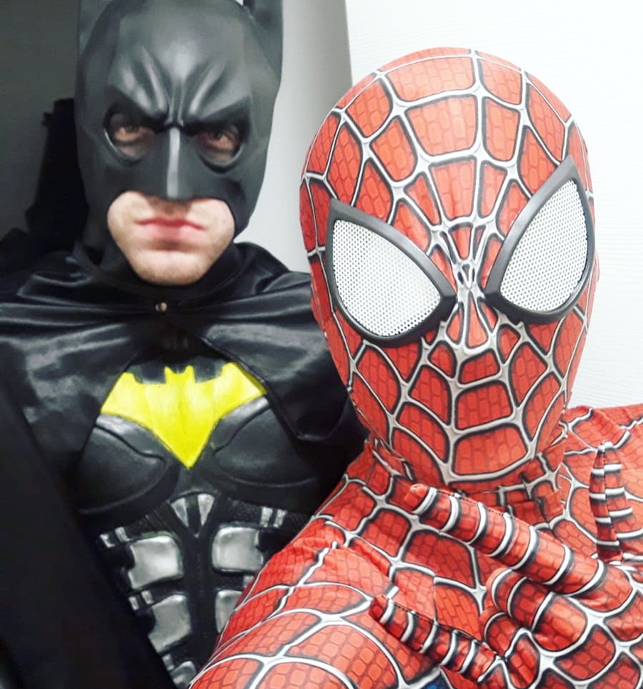 videochiamata spiderman batman